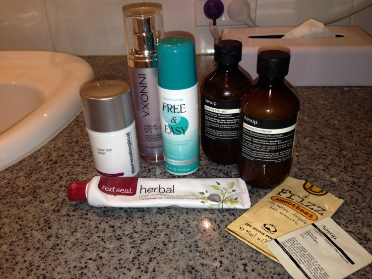 My cruelty-free toiletries