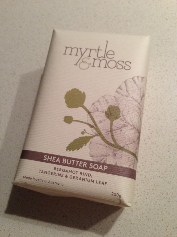 Myrtle and Moss cruelty free shea butter soap