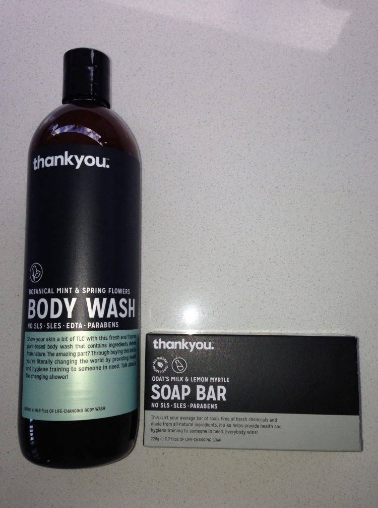 Thankyou Body Wash and Soap Bar