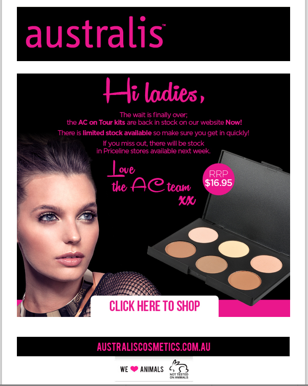 Australis AC on Tour Contour Kit