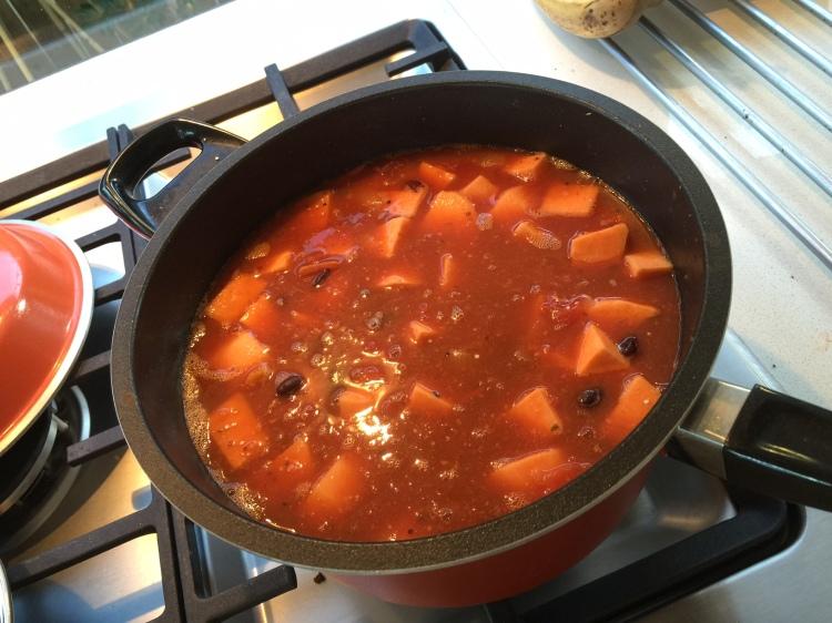 Sweet potato and quinoa chilli recipe