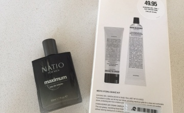 Cruelty-free father's day gifts - Grown Alchemist Men's Hydra-Shave Kit and Natio for Men Maximum eau de toilette